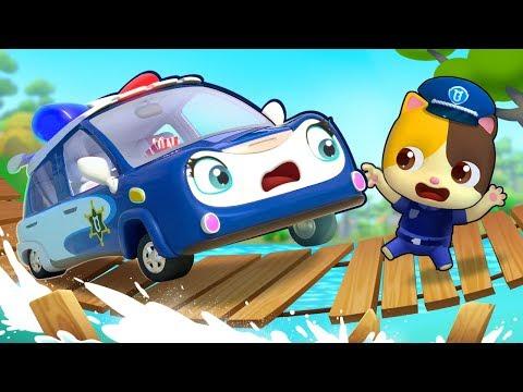 Brave Police Car - Polly | Monster Truck, Fire Truck | Cars for Kids | Kids Songs | BabyBus