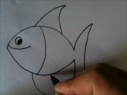 How to draw Cartoon Fish - YouTube
