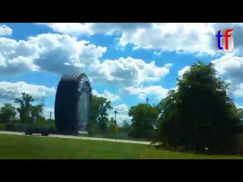 **World Largest Tire** 24m High Uniroyal Tire, Allen Park, Michigan, USA, 08/22/2016.