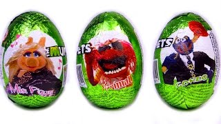 Disney The Muppets Surprise Eggs Kermit, Gonzo, Miss Piggy It
