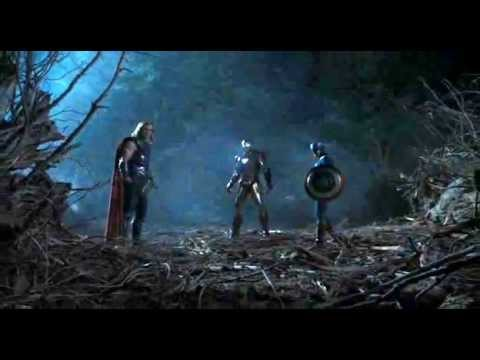 The Avengers - Thors Hammer Hits Captain Americas Shield