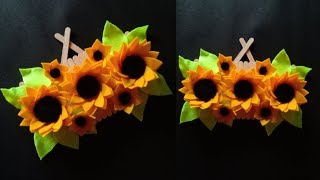 DIY SUNFLOWER WALL DECORATION | HOW TO EASY MAKE SUN FLOWER