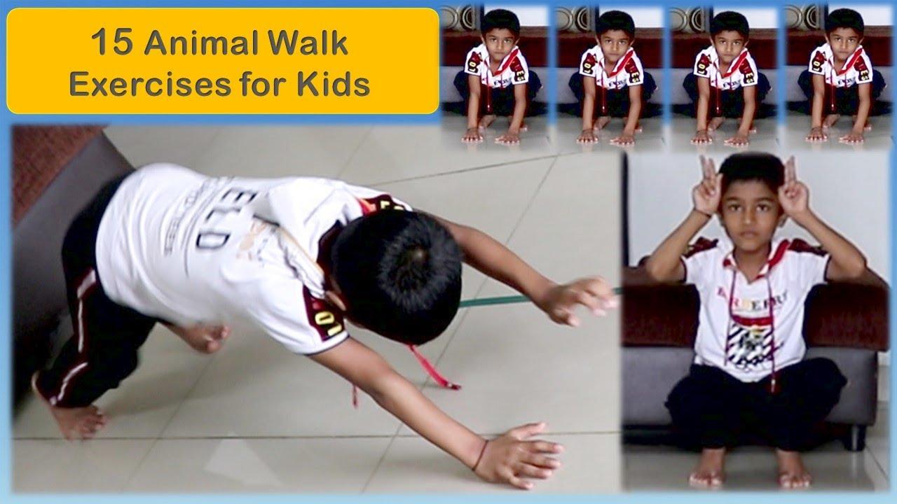 15 Animal Walk Exercises for kids | Funny Animal Walks for Kids & Toddlers | Race Games | Exercises