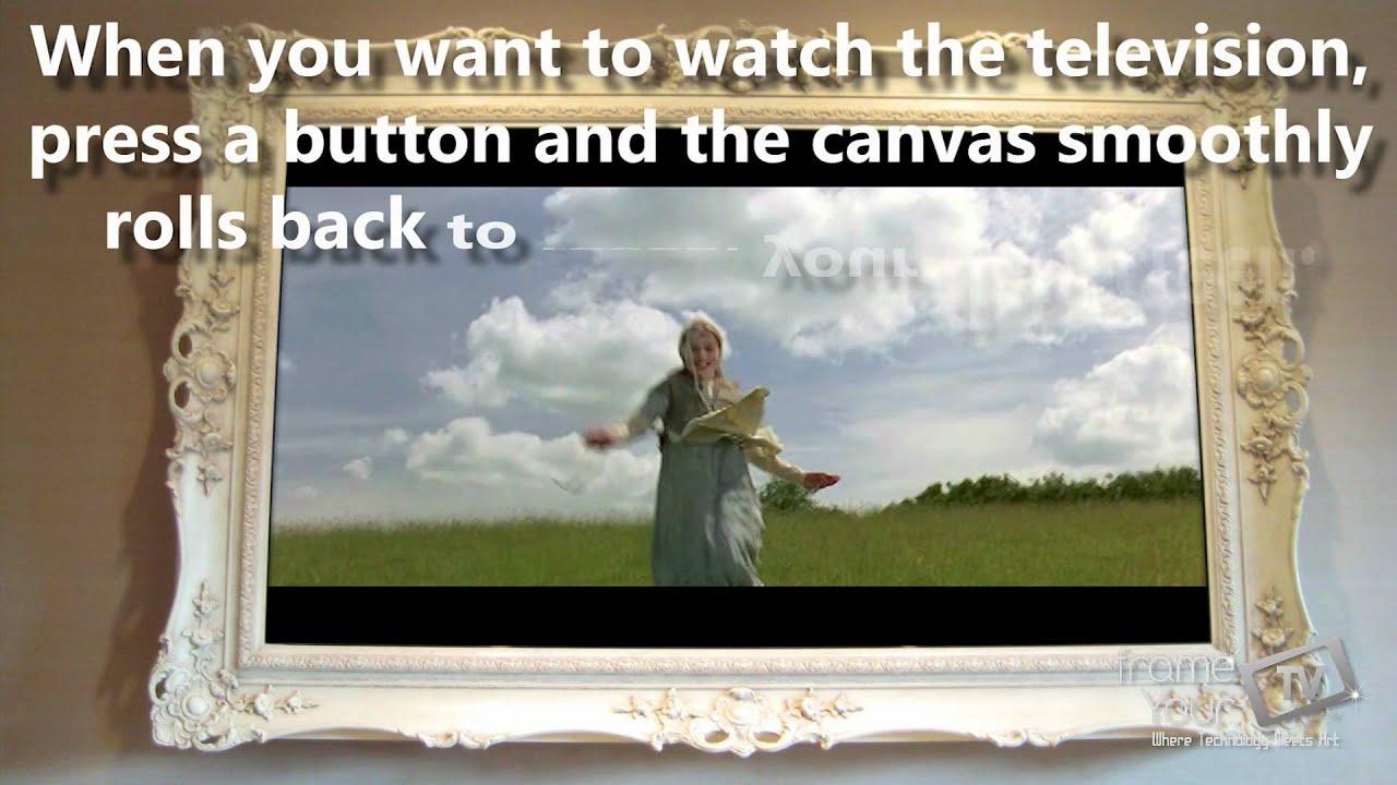 frameyourtv moving artwork tv frames