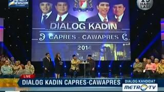 Dialog Kadin Capres dan Cawapres: Prabowo-Hatta (4)