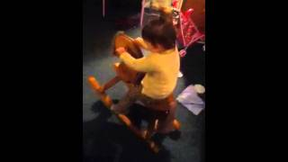 Naliiah's New Wooden Rocking Horse!