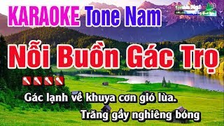 Nỗi Buồn Gác Trọ Karaoke Tone Nam - Nhạc Sống Thanh Ngân