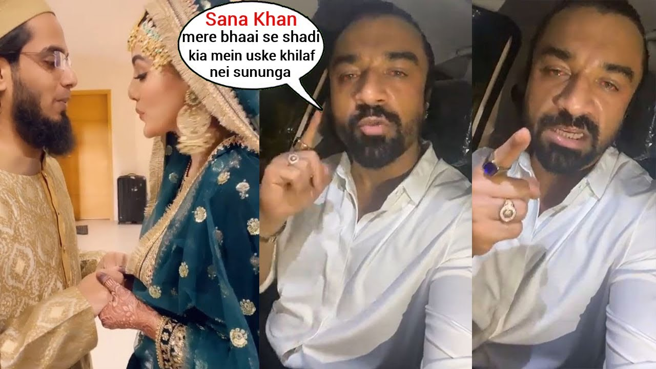 Download Ajaz Khan's Angry Reaction om Sana Khan and her hubby Anas Saied being Trolled after Marriage