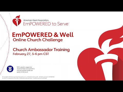 EmPowered and Well Online Church Challenge Ambassador Training Call – Session 2