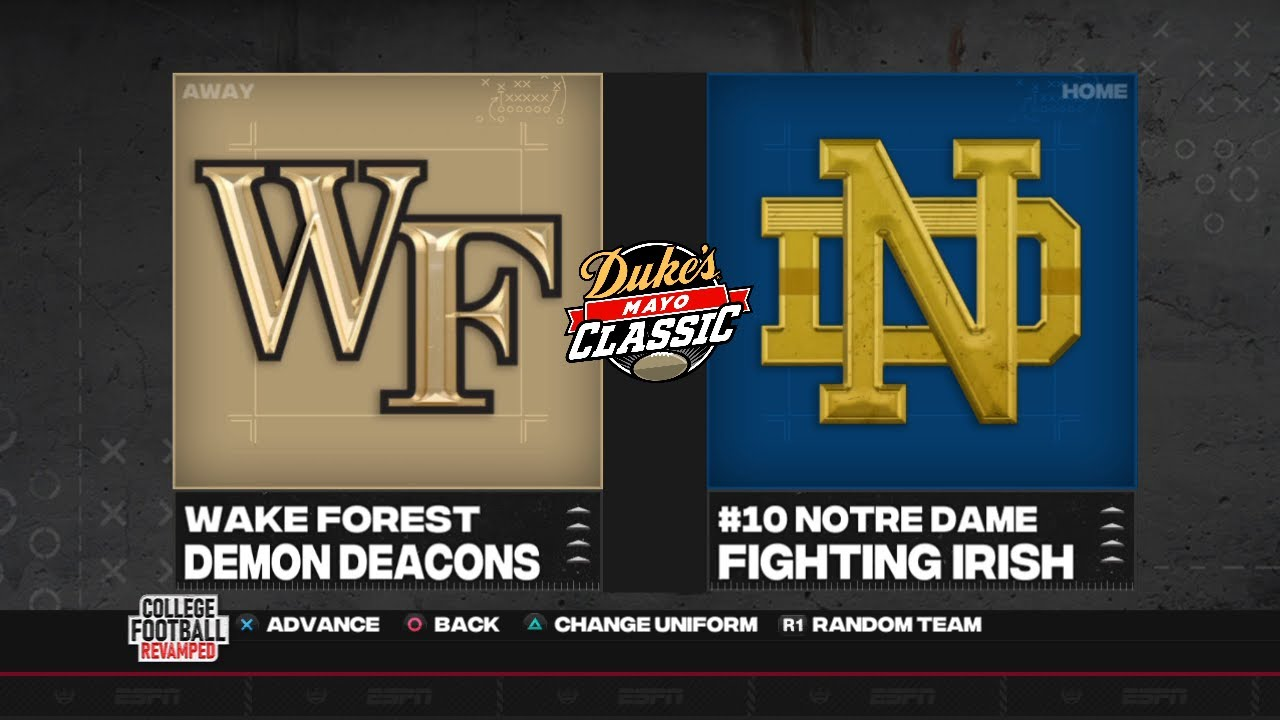 2020 Mock Duke's Mayo Classic - Notre Dame vs Wake Forest (NCAA 14 CFB Revamped)