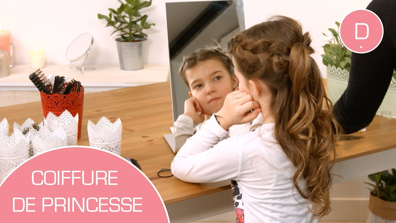 coiffure de princesse tuto coiffure youtube. Black Bedroom Furniture Sets. Home Design Ideas