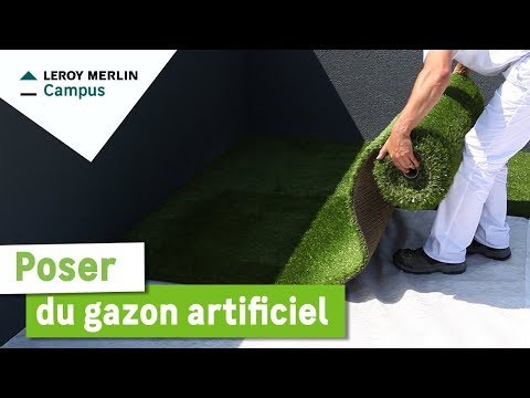 tutoriel pose gazon artificiel sur
