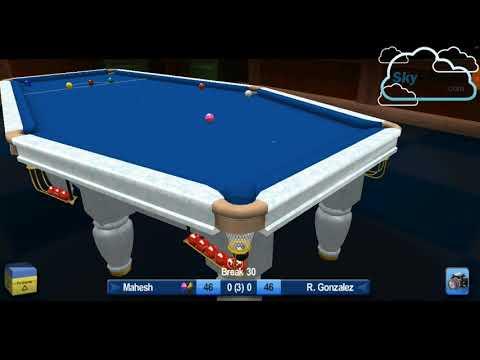 Snooker | 100+ Points | 3 Frame Match | 15 Ball Challenge | Mahesh VS  R. Gonzalez