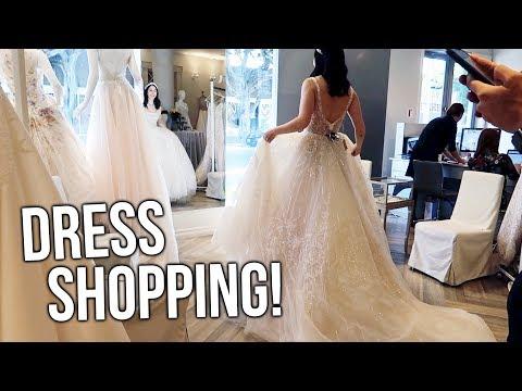 WEDDING DRESS SHOPPING!!! Picking THE dress!!