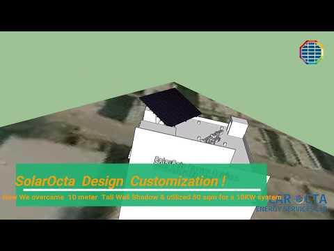 3D Design for Installation of Rooftop Solar Power Plant - New Delhi