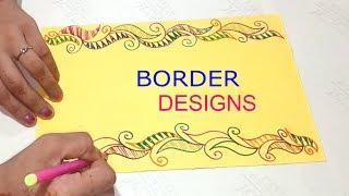 Border design on paper   project work designs   border designs   border for projects