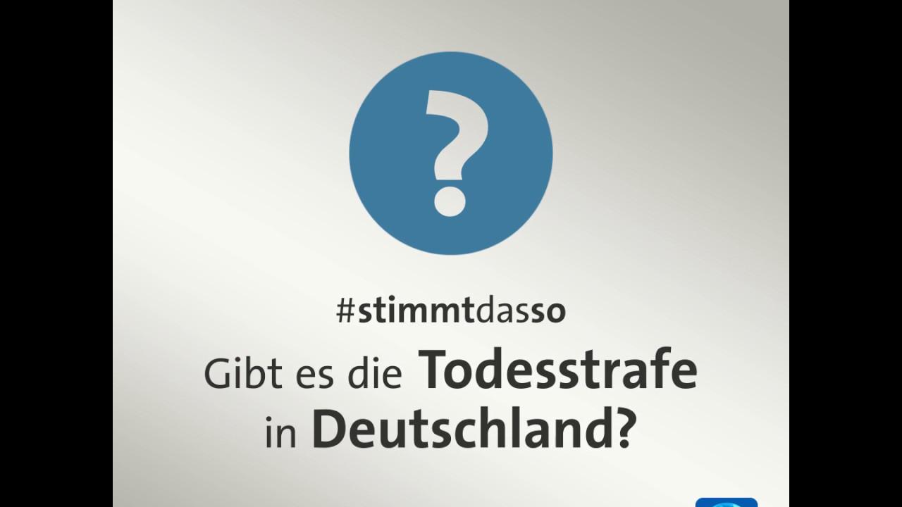 Gibt Es Die Todesstrafe In Deutschland Youtube