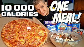 10 000 CALORIES in ONE MEAL CALLENGE!   JUNK BOWL MADNESS 2.0 (Mukbang style)