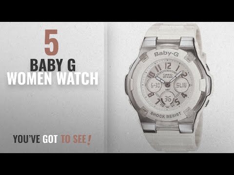 Top 10 Baby G Women Watch [2018]: Casio Women's BGA110-7B Baby-G Shock-Resistant White Sport Watch