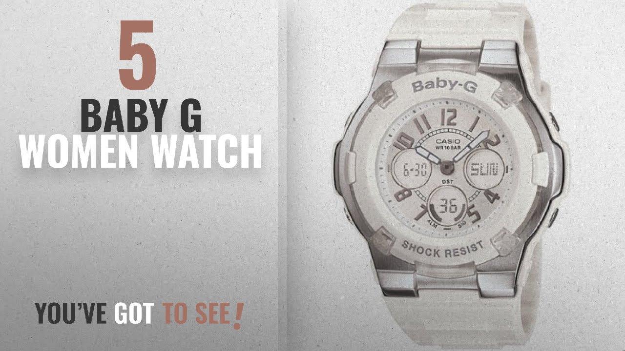 d4844181a1e081 Top 10 Baby G Women Watch [2018]: Casio Women's BGA110-7B Baby-G Shock-Resistant  White Sport Watch