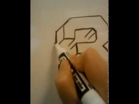HOW TO DRAW 3D NUMBERS (3)