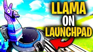 What Happens When A LLAMA Lands ON A LAUNCH PAD!? | Fortnite Mythbusters