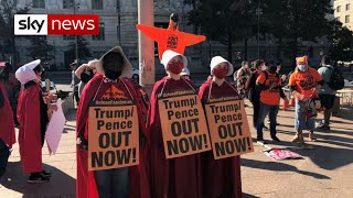 Women march against Trump in Washington ahead of US presidential election