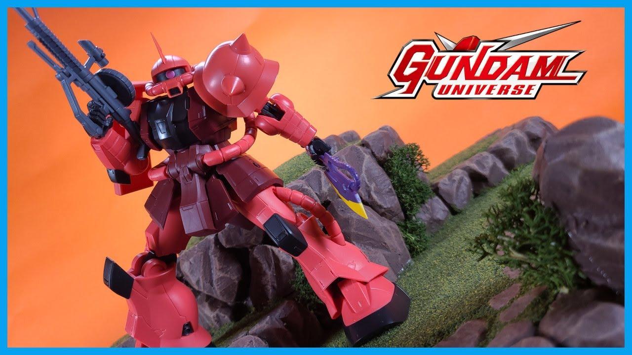 Bandai Tamashii Nations Gundam Universe CHAR AZNABLE'S ZAKU II Action Figure Review