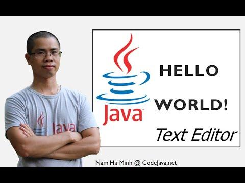 Java Hello World for Beginners (JDK 8 + Text Editor + Javac + Java Command-line Tools)
