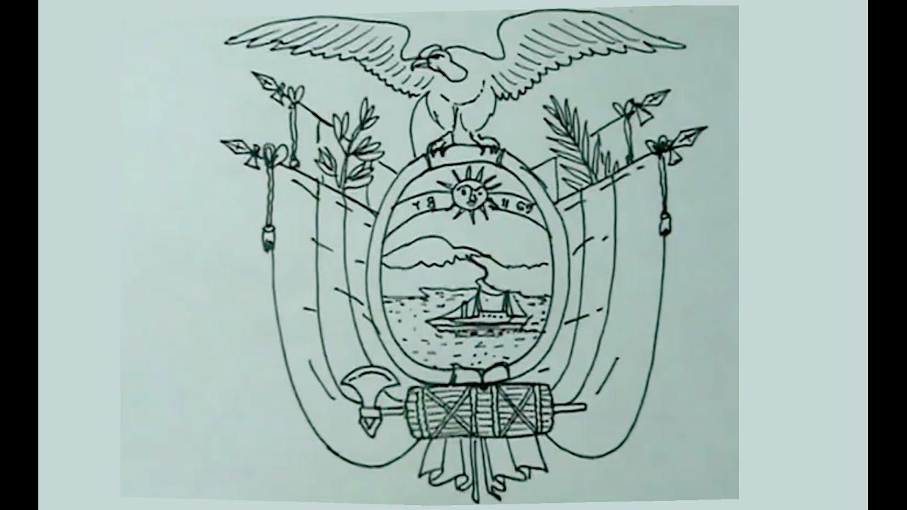 Escudo del Ecuador para Colorear - Imágenes para imprimir y pintar ...