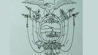 Aprende a dibujar fácil el escudo nacional de Ecuador