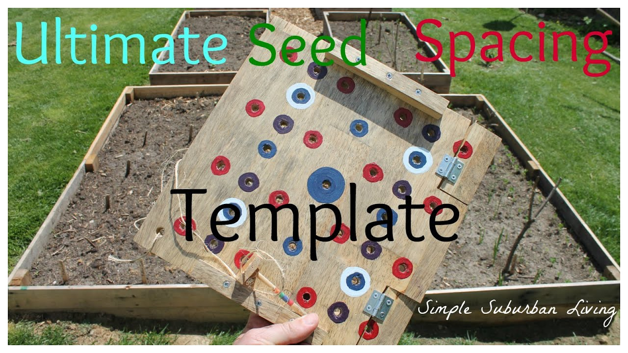 Square Foot Garden Planting Template YouTube