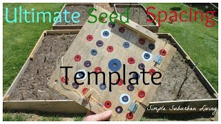 Square Foot Garden Planting Template