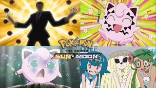 Pokemon Sun and Moon anime review ep 56 Jigglypuff and Komoala sleep off