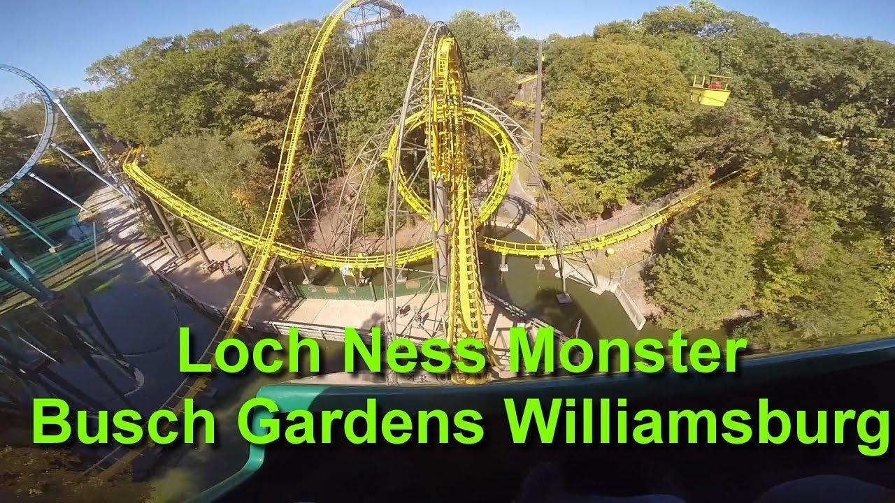 Loch Ness Monster Front Seat On Ride POV Busch Gardens Williamsburg GoPro HD
