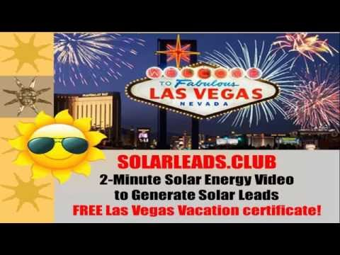 SolarLeads Club Las Vegas Vacation Offer 2 Minutes