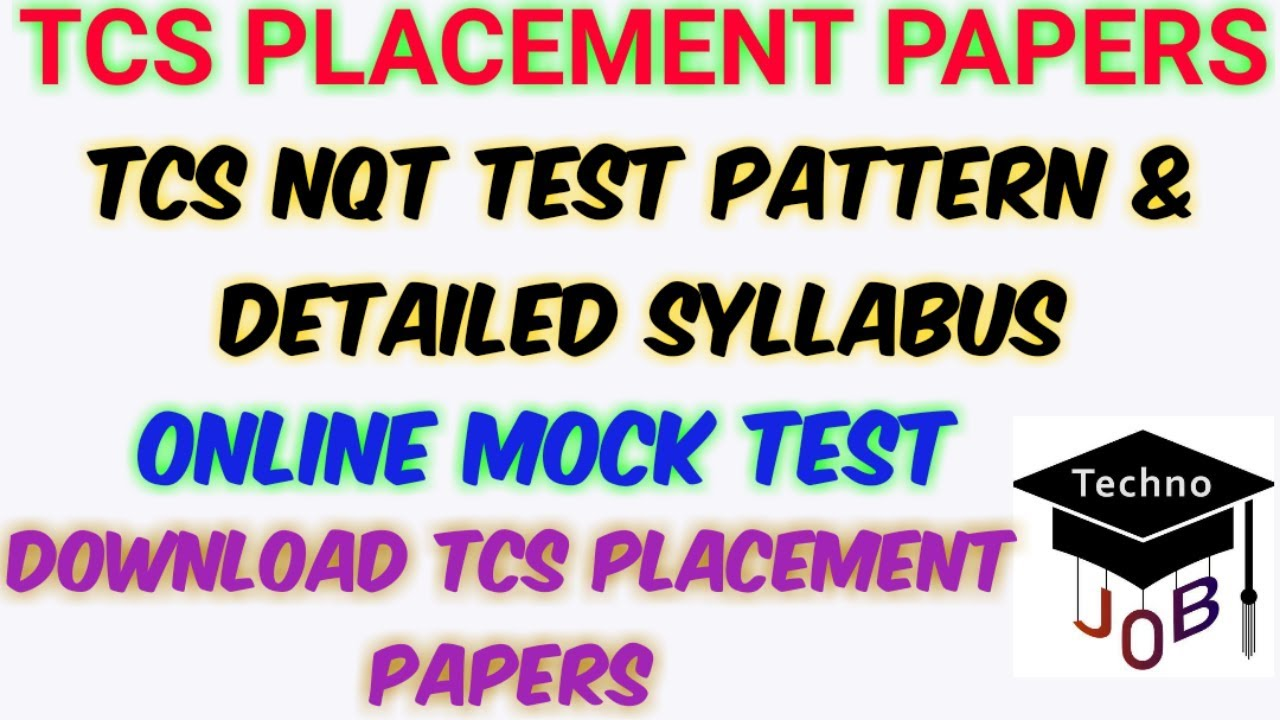 TCS Placement Papers | TCS NQT Important questions | TCS