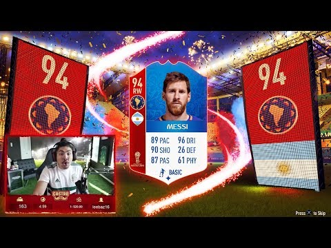 WORLD CUP MESSI IN A PACK FIFA 18 WORLD CUP