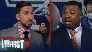 Brian Westbrook expects Lamar to dominate vs Titans, talks Cowboys | NFL | FIRST THINGS FIRST