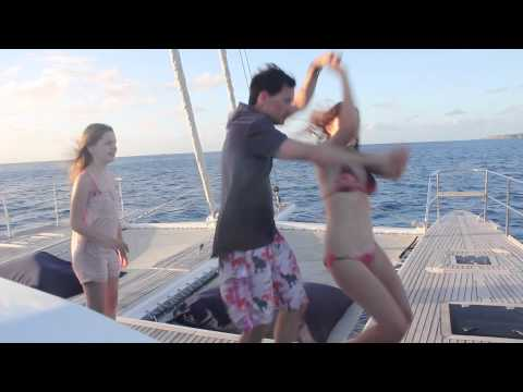 Amazing guests on sailing catamaran Miss Kirsty in the BVI