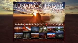 Lunar Calendar 2017 Moon Phases & Astronomy Wall Calendar 1 Monument Valley