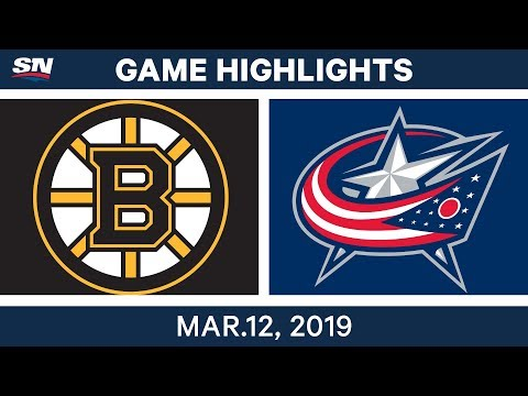 NHL Highlights | Bruins vs. Blue Jackets – Mar 12, 2019