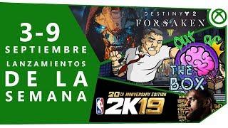 Xbox One | Lanzamientos de la semana (3 - 7 septiembre)