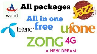 All type of packages sim of pakistan (#UFONE #JAZZ #WARID #ZONG #TELENOR