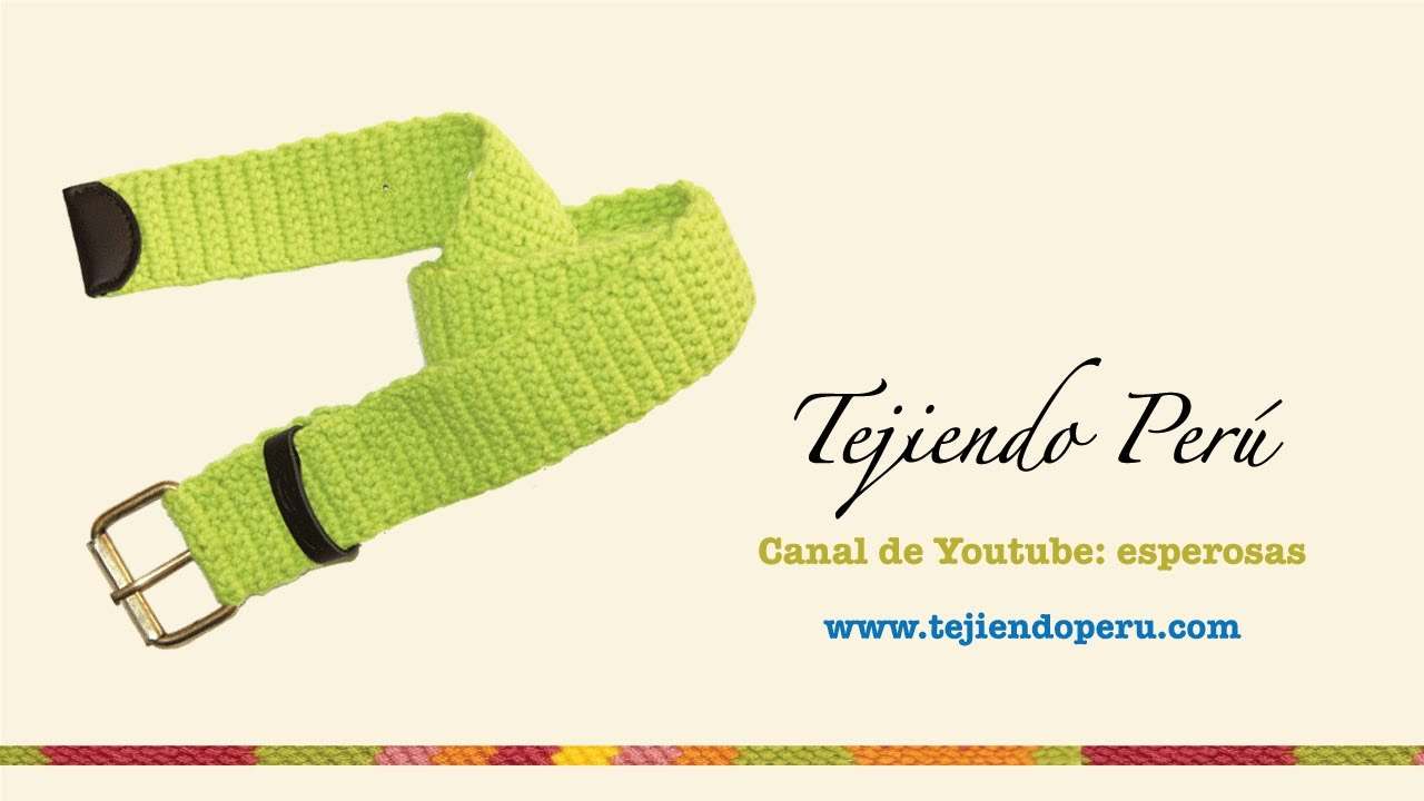 Correa tejida en crochet - YouTube