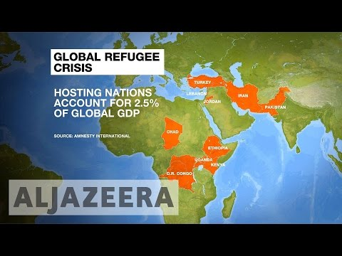 Ten countries 'host half of world's refugees'
