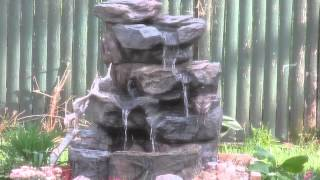 Robins play in Better Homes and Gardens Waterfall from Walmart