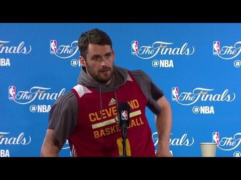 Kevin Love NBA Finals Media Day #1 Press Conference | 2017 NBA Finals