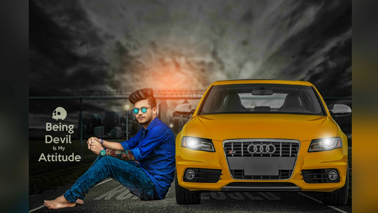 Cool Boy With A Audi Car Photo Editing By Picsart Real Cb Editing