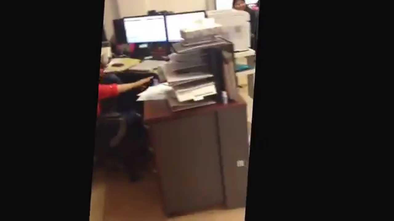 electric air horn under desk prank youtube